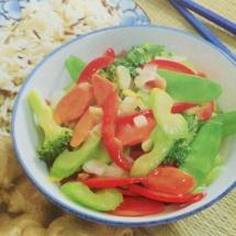 Receta de Verduras al jengibre
