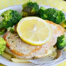 Receta de Pollo al limón con brócoli