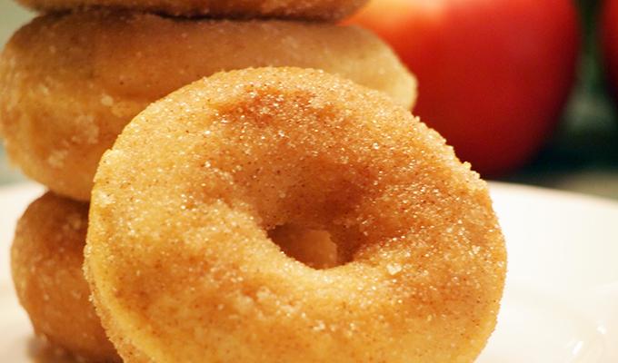 Donitas de manzana