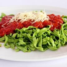 receta de fetuccini verde