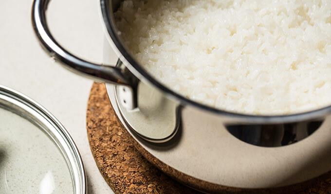 Tu arroz quedo crudo
