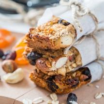 receta de Barra de granola con crema de cacahuate