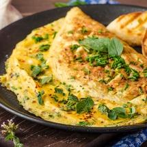Receta de Omelette de amaranto y espinacas